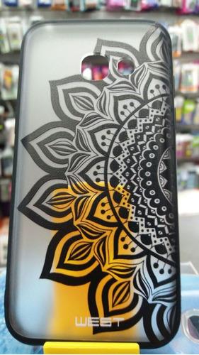 tpu samsung a3 2017 mandala diseño + gorilla glass