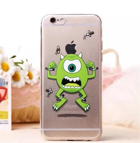tpu silicona ultra fina iphone 6 monsters inc protector