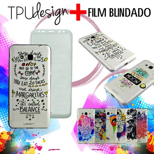 tpu ultrafino con diseño lg k4 k8 k10 2017 + blindado