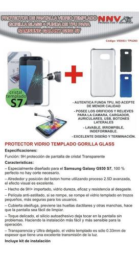 tpu + vidrio templado gorilla glass samsung galaxy g930 s7