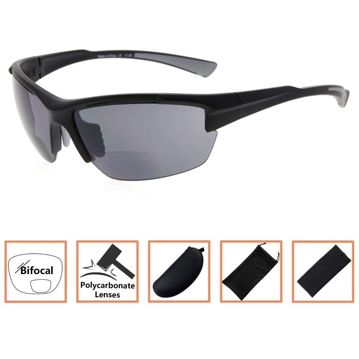 703bfbca49 Tr90 Deportes Half-sin Montura Gafas De Sol Bifocales - $ 1,415.00 ...
