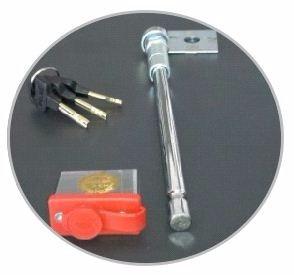 traba antirrobo rueda de auxilio p/ s10 2012+