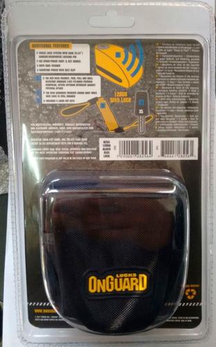 traba disco con alarma 120db on guard 8256 6 mm 12 cuotas