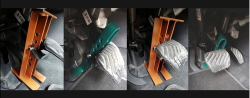 traba pedal para autos + candado de metal antipalanca.