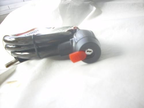 traba seguridad para moto /bici con 2 llaves 22mm x 1.50mts