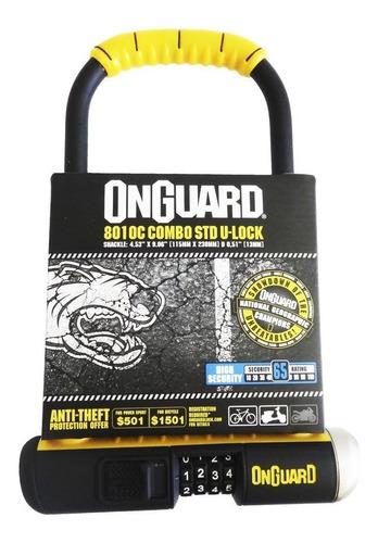 traba u onguard 8010c 11.5cm x 23cm combinacion - soporte