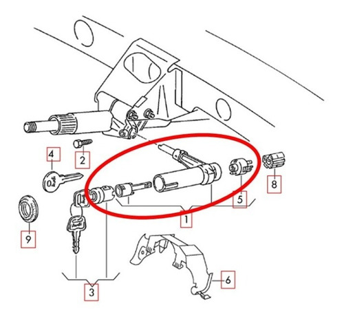 traba volante volkswagen jetta-skoda octavia-audi a3