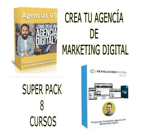 trabaja desde casa agencia de marketing digital 8 cursos