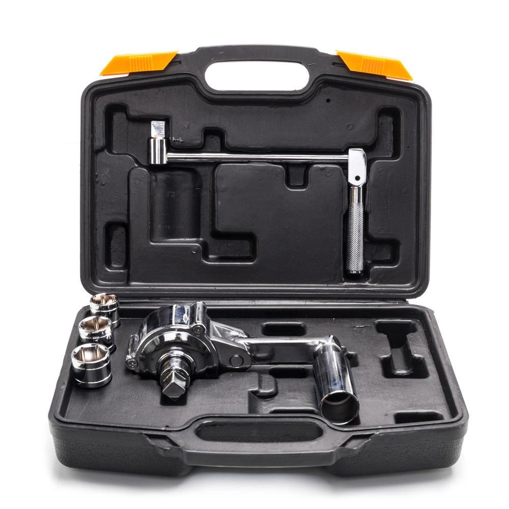 Torque Multiplier Set Wrench Lug Nut Labor Saving Lugnuts Remover w// 2 x Sockets