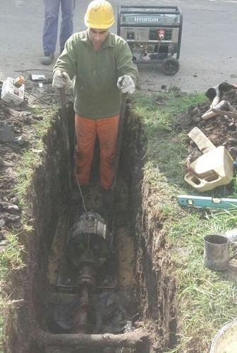 trabajos con tuneleras, cruces bajo calzada.