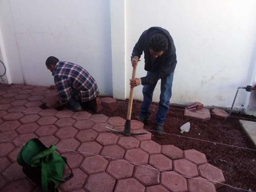 trabajos de albañilería, pintura y jardinería