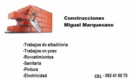 trabajos de albañilería,electricidad,sanitaria,carpintería.