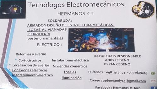 trabajos de electricidad y soldadura