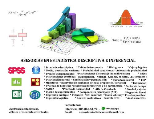 trabajos de estadística toda colombia.spss,r, r studio,stata