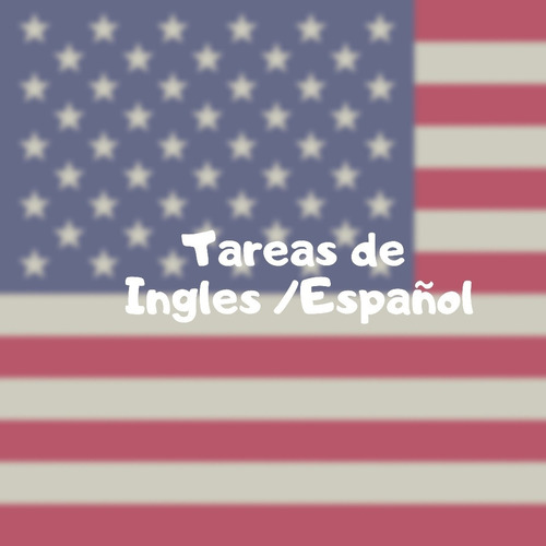 trabajos de ingles / español