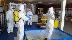 trabajos de limpieza y desinfeccion