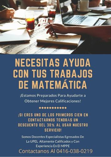 trabajos de matemática y clases online