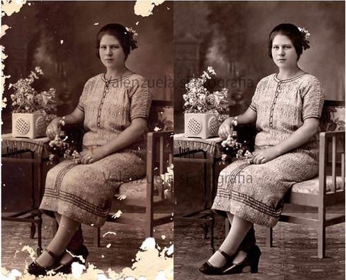 trabajos de restauración de fotografía profesional