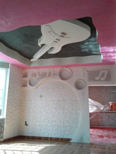 trabajos de tablaroca, panel 3 d