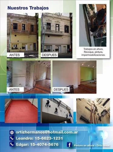 trabajos en altura - pintura exterior e interior