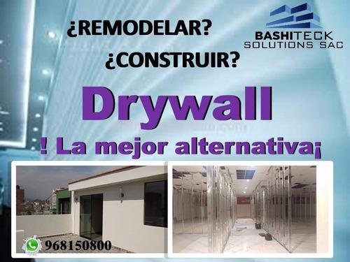 trabajos en drywall. construcción e instalación en drywall