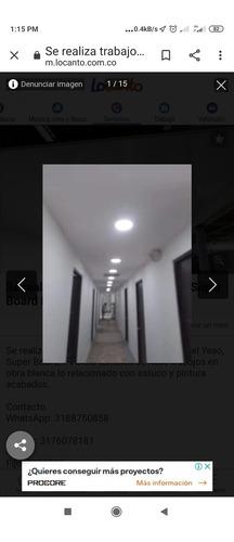 trabajos en drywall obra civil y electricista.