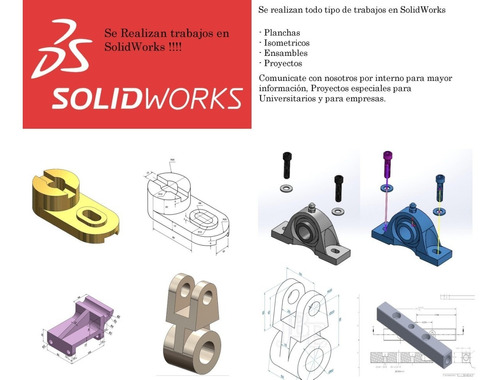 trabajos en solid works universidades - empresas