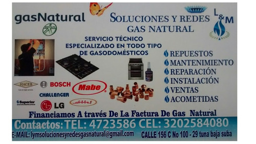trabajos gas natural domiciliario