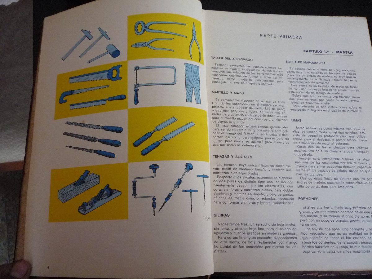 Trabajos manuales antiguo libro madera carton juguetes swt - Trabajos manuales de madera ...