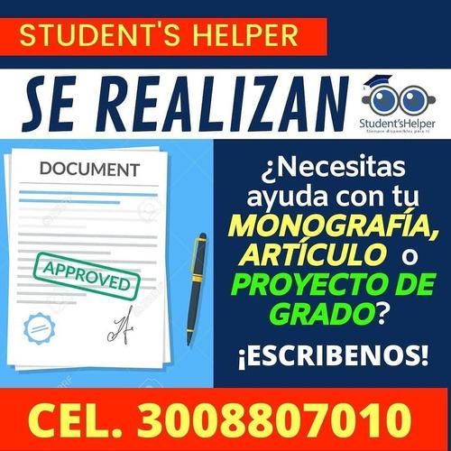 trabajos universitarios, proyecto, artículos, monografias