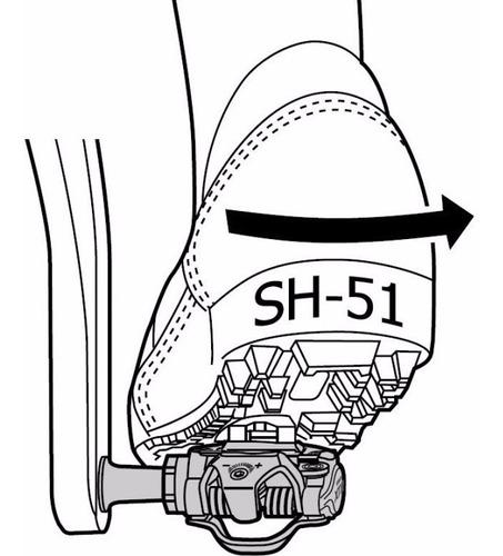 trabas calas shimano sm-sh51 desbloqueo direccional mtb