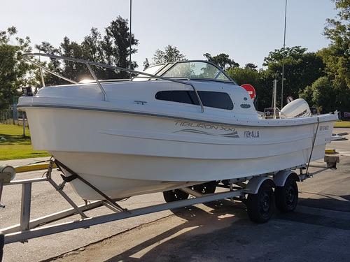 tracker cuddy tiburon 21 2019 motores nautica milione 2