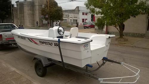tracker tempestad 550 cubierta matrizada sin trailer