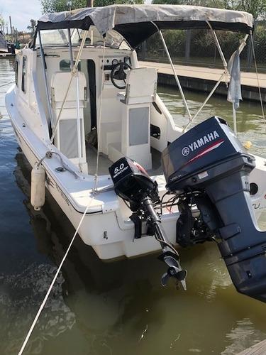 tracker virgin marine 100 hs cabinado + trailer + motor 5hp