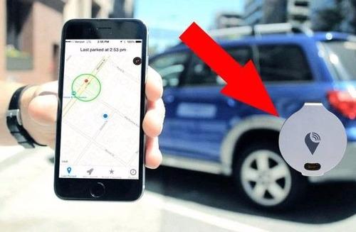 trackr bravo localizador gps autos mascotas bici color plata