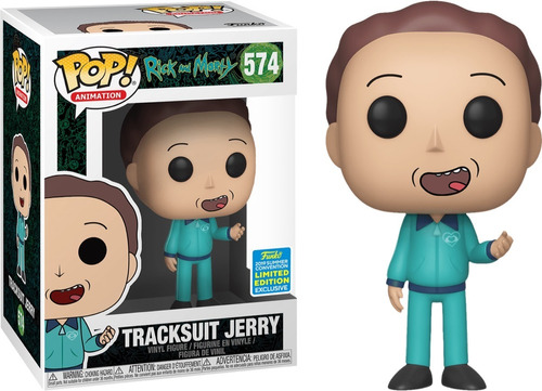 tracksuit jerry rick and morty convention exclusiv funko pop