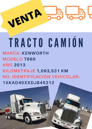 tracto camion kenworth 2013