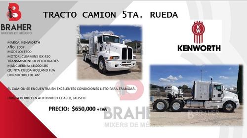 tracto camion quinta rueda kenworth t600 2007 stock 1912
