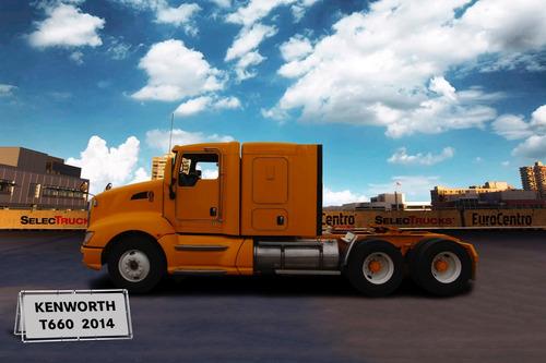 tracto camión usado kenworth t660 2014 cummins isx seminuevo