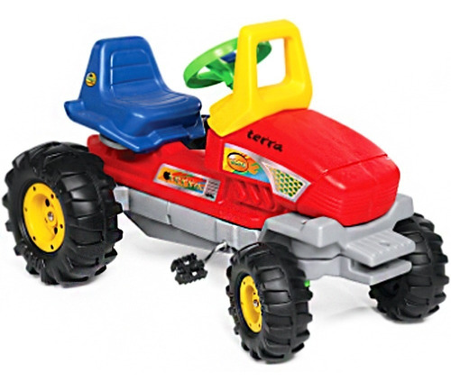 tractor a pedal cadena y direccion terra vegui 3 a 7 años