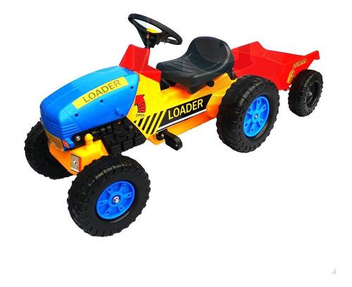 tractor a pedales con carro + envio