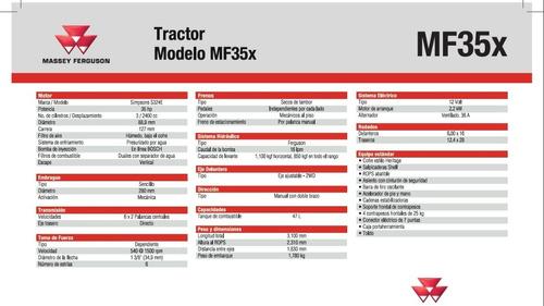 tractor agrícola mf35x de 35hp massey ferguson