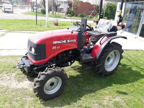 tractor apache  solis 26 gt. parquero
