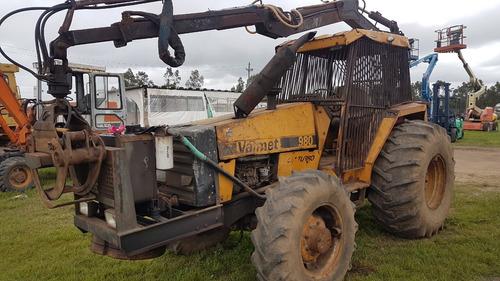 tractor con grapo valmet 980 turbo
