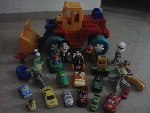 tractor con juguetes para niños (plástico)