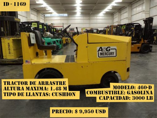 tractor de arrastre mercury 3000 lb modelo 460-d