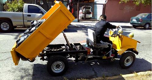 tractor de carga con tolva hidráulica