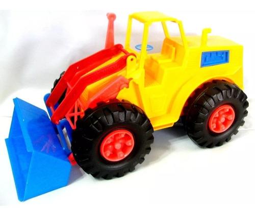 tractor excavadora de plástico, carro juguete camión volteo