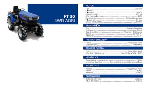 tractor ft 30 4wd agri   - precio de contado -