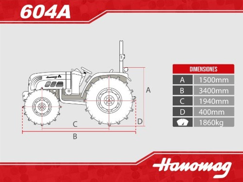 tractor hanomag 604 a 4x4